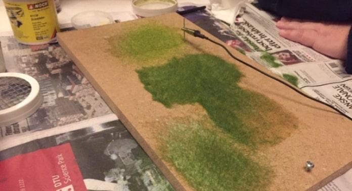 græssåning på overflade