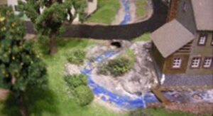 vandløb til modeljernbane