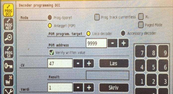 decoder programmering dcc