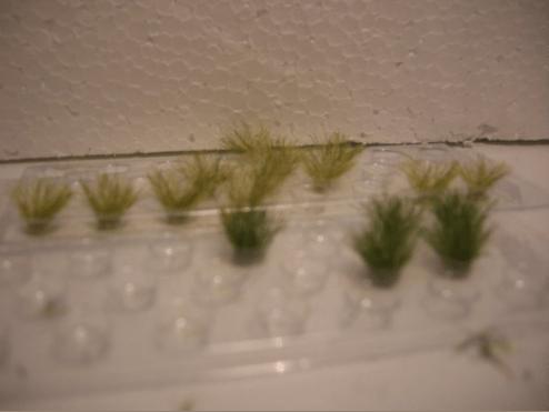 græs til sporlægning på modeltogbane