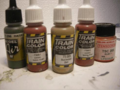 Maling til sporlægning af togskinner