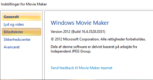 Windows Movie Maker Program