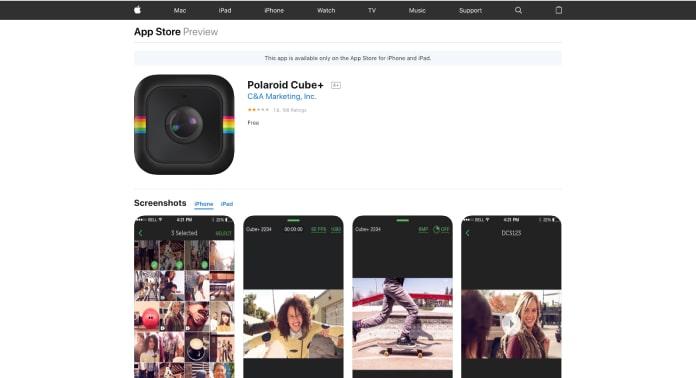 polaroid cube plus app