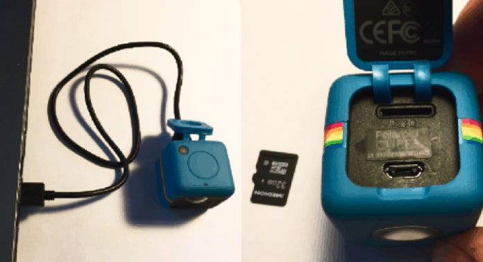tilslut polaroid cube plus kamera