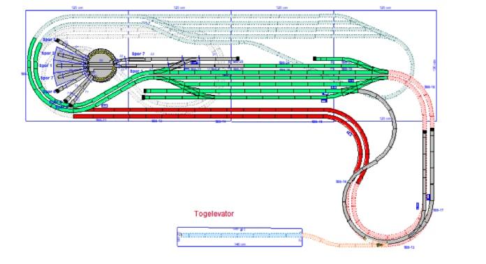 placering af togelevator