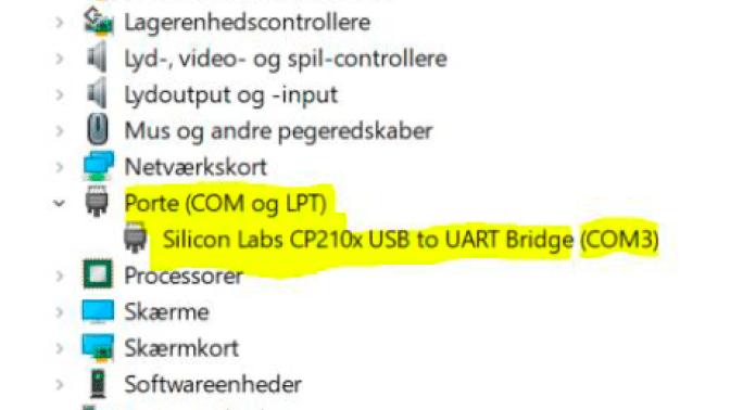 port konfiguration