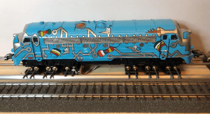 lokomotiv på rullestand